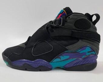 watch d98e5 ab462 Air Jordan VIII Aqua Authentic Nike Basketball Shoes Size 7.5 Circa 1992- 1993