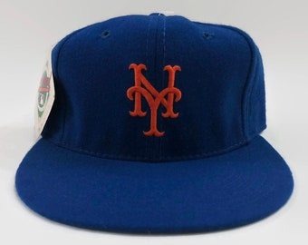 New York Mets Authentic MLB New Era Fitted Baseball Hat Size 7 1 4 Circa  1980s 6c0509cb071a