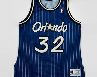 faeff368888 Shaquille O Neal Orlando Magic Authentic NBA Champion Basketball Jersey  Size 44 Large Circa 1990s