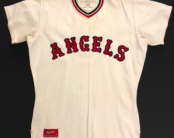 c348c0378 Los Angeles Angels Salesman s Sample Authentic MLB Rawlings Baseball Jersey  Size 42 Circa 1960s