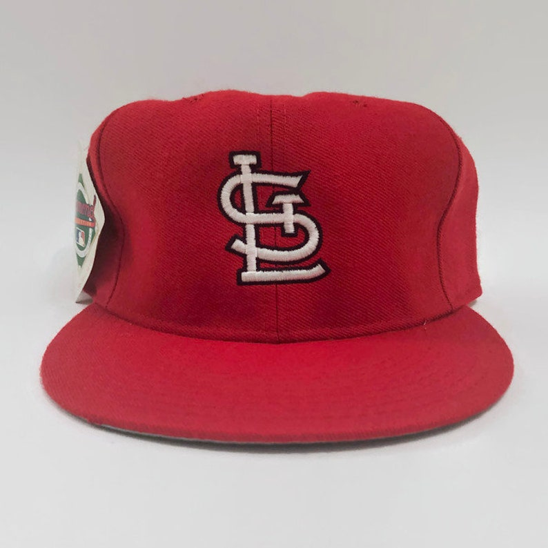 194452c6 St. Louis Cardinals Authentic MLB New Era Fitted Baseball Hat Size 7 3/4  Circa 1990s