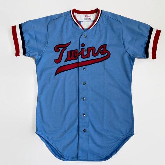 new style acd92 c40c2 Minnesota Twins Salesman's Sample Authentic MLB Wilson Baseball Jersey Size  42 Large Circa 1970s