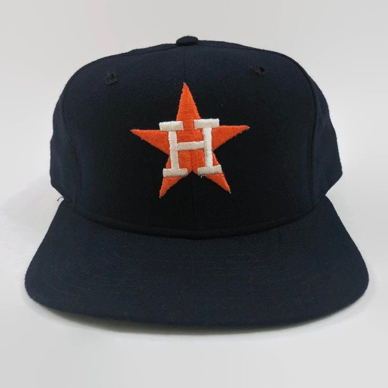 30f7a482ecb Houston Astros Navy Authentic MLB New Era Fitted Baseball Hat