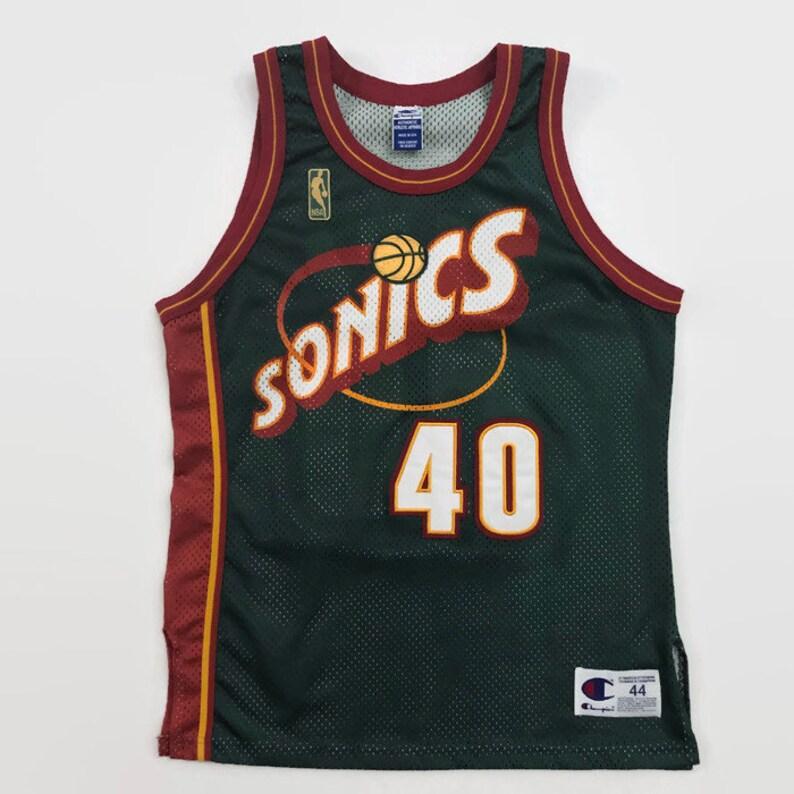 7e89ec61f7d Shawn Kemp Seattle Supersonics Authentic NBA 50th Anniversary