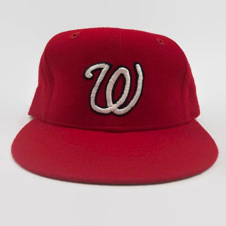 09a4c21cb Washington Senators Authentic MLB New Era Fitted Leather   Etsy