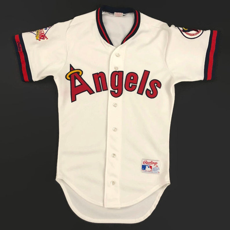 buy online 30dd5 b8393 California Angels Authentic MLB Rawlings All Star Game Baseball Jersey Size  36 Small Circa 1989
