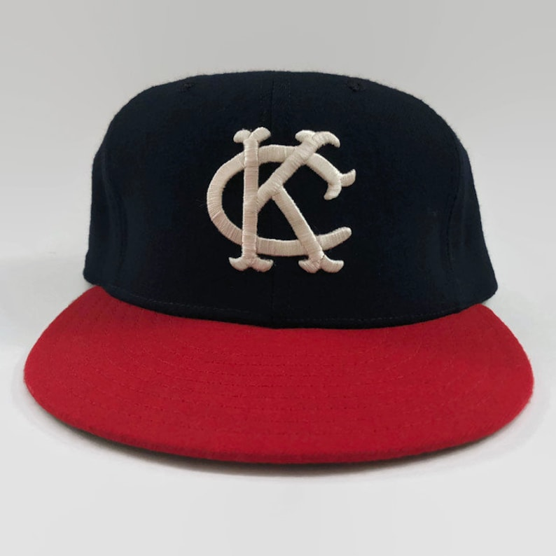 8841f53b5 Kansas City A's Authentic MLB New Era Fitted Leather   Etsy