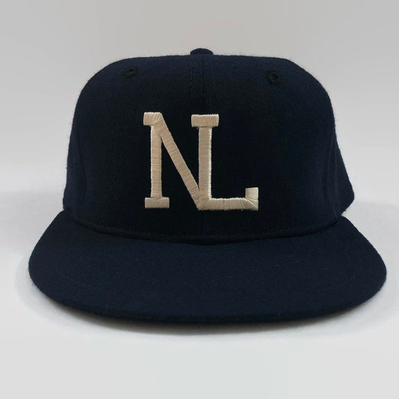 National League NL Umpire Authentic MLB New Era Fitted Leather Sweatband  Baseball Hat Size 7 1 8 Circa 1970s 00e819bc32f
