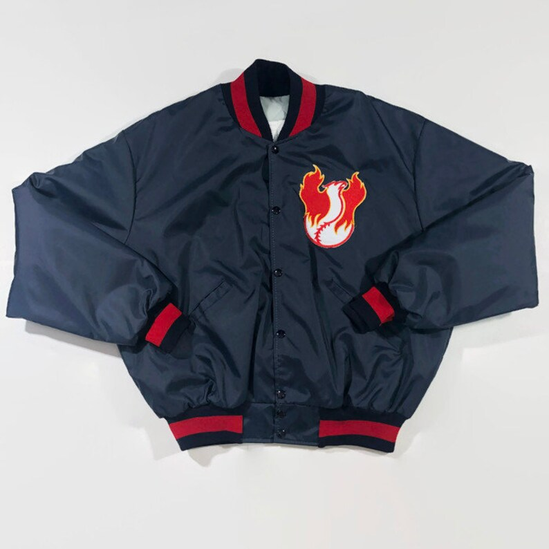 Phoenix Firebirds Authentic Game Issued MiLB Delong Satin Baseball Jacket Size Extra Large Circa 1990s