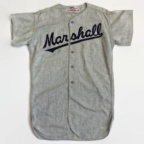 Marshall Authentic Rawlings Baseball Jersey Size 3