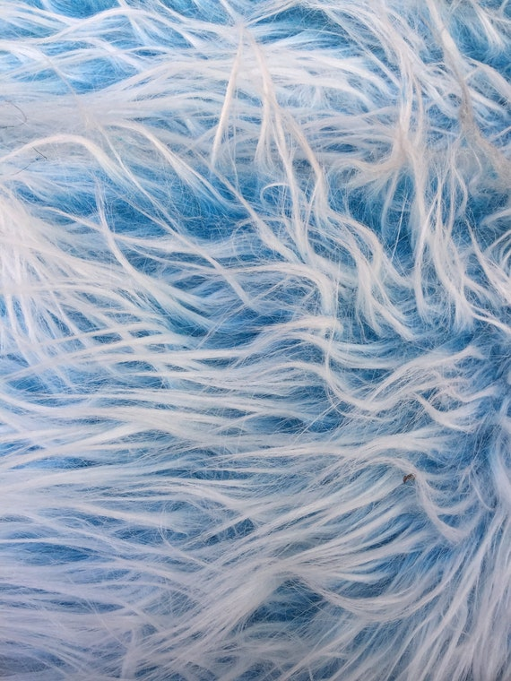 10122 Bethany TURQUOISE Frost 2.5 Inch Mongolian Long Pile Soft Faux Fur Fabric by the Yard