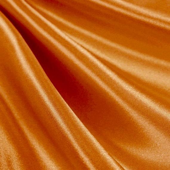 "Peach 10 Yards Shiny Bridal Satin Fabric 60/"""