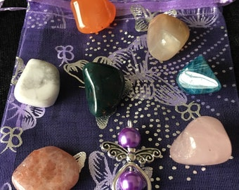 POST NATAL. Healing crystal set of 7 crystals chosen to support post childbirth and beyond.