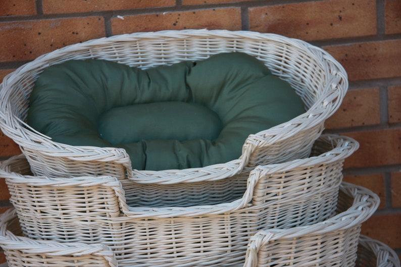 vente chaude en ligne fe50f 54ab5 HANDMADE- Wicker Dog Basket in cream color- max dimensions 87 cm