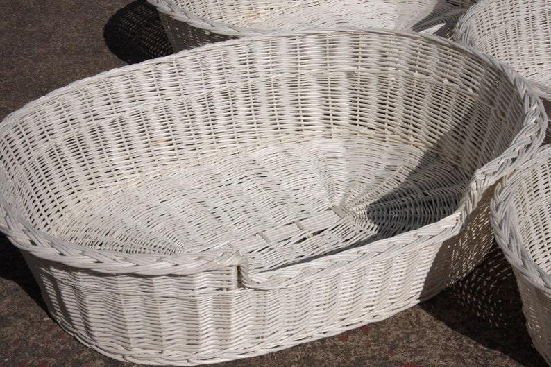 acheter populaire a3751 d17e3 XL - HANDMADE- Wicker Dog Basket in cream color- max dimensions 102 cm