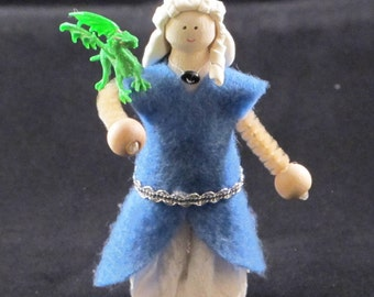 Mother of Dragons clothespin doll