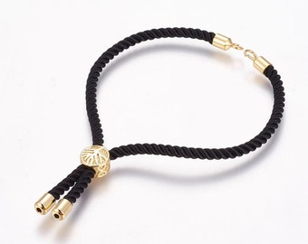 rp16 0.8mm GoldSilverPale Gold Nylon Coated Round Cord,Core Wire Cord Stretch Beading String,Round Rope Trim Bracelet