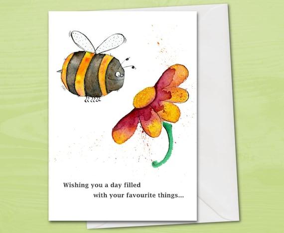 Bee Birthday Card For Lover Gardener