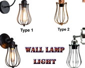 Modern industrial wall lamp Retro Vintage Lighting Wall decor Lights Sconce Lamp Fixture UK (bulb not included)