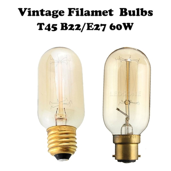 E14 B22 E27 Vintage Amber Antique Retro Style Filament Light Bulbs Edison Lamp