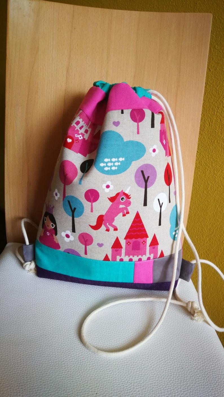 Unicorn Drawstring Bag Kids Practical Backpack Gift For
