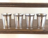 Julep Cups by Leonard, Silver Mint Julep Cups (4), No Monograms