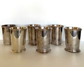 Silver Julep Cups by Patrick Henry (6), Vintage Julep Cups