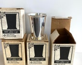 Vintage Julep Cups (4), Vintage Julep Cups in their original boxes by International Silver Co.
