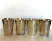 Julep Cups by Eales, Silver Mint Julep Cups (4), Vintage Silver-Plated Julep Cups