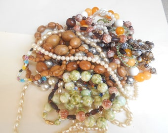 lot old costume jewelry