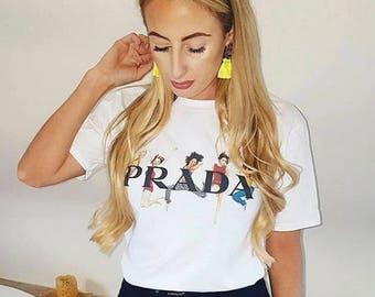Womens Spice Girls white tshirt