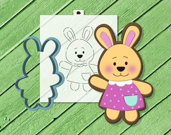 baking DIY kit for Easter decoration Easter cookie cutter Chicken Cookie Cutter and Stencil Set