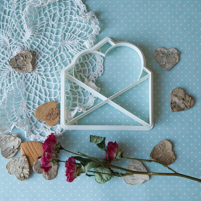 Valentine Cookie Cutter Envelope Cookie Cutter Fondant | Etsy