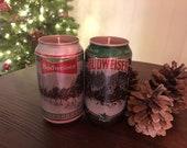 Budweiser Holiday Edition Christmas Candle
