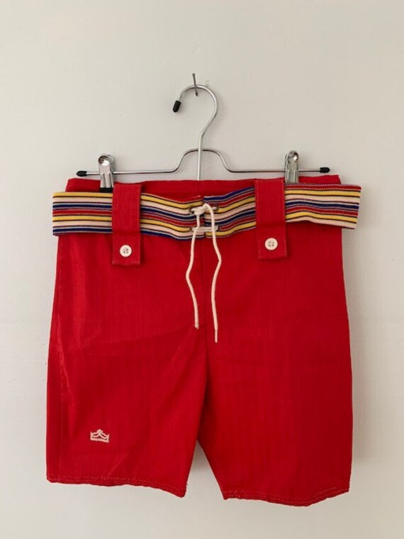 """1960's-70's Men's Belted Swim Trunk, made by """"Sear"""