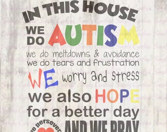 In This House We Do Autism svg, png,eps, dxf