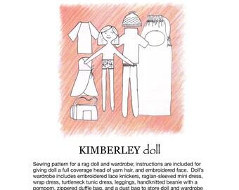 Kimberley doll pdf sewing pattern