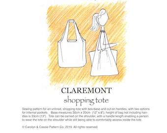 Claremont shopping tote pdf sewing pattern