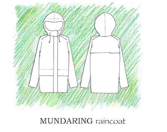 Mundaring raincoat pdf sewing pattern