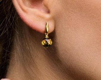 Sparkling Amber Earrings BLISS
