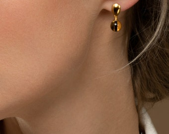 Luxurious Yellow Amber Earrings TIGER