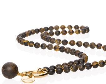 Short Black Amber Necklace NERO