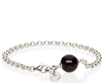 Silver Amber Bracelet CHERRY