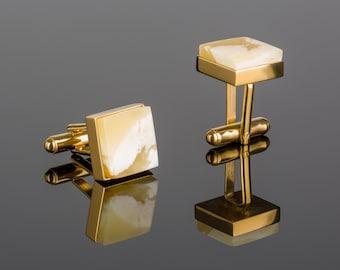 Gold Vermeil Cufflinks CUBICO