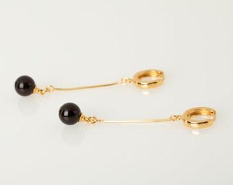 Gold amber earrings, Red drop earrings, Cherry amber, Snake chain Earrings, Gold amber earrings, Red amber earrings, Gold long earrings