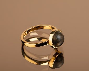 Black amber ring, Baltic amber ring, Black amber, Gold vermeil ring, Black gold ring, Dainty Amber ring, Baltic amber jewelry