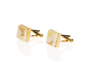 Amber cufflinks CUBICO