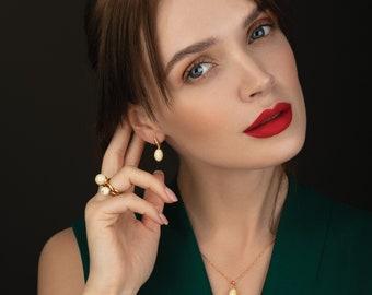 White amber earrings, Amber gold earrings, Amber gold, Baltic amber, Baltic amber white, Real amber earring, Elegant earrings