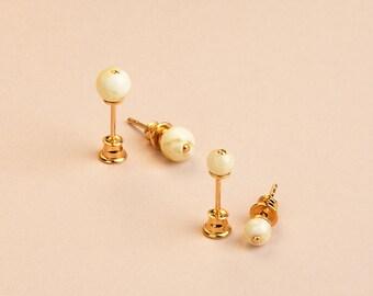Minimalist Stud Earrings Set with White Amber Earrings, Best Friend Gifts, Graduation Gift, Bridesmaid Earrings Set, Baltic Amber Jewelry