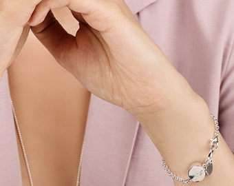 White amber bracelet, Amber bracelet, Silver amber, White amber stone, Geometric bracelet, Silver amber jewelry, Baltic amber jewelry